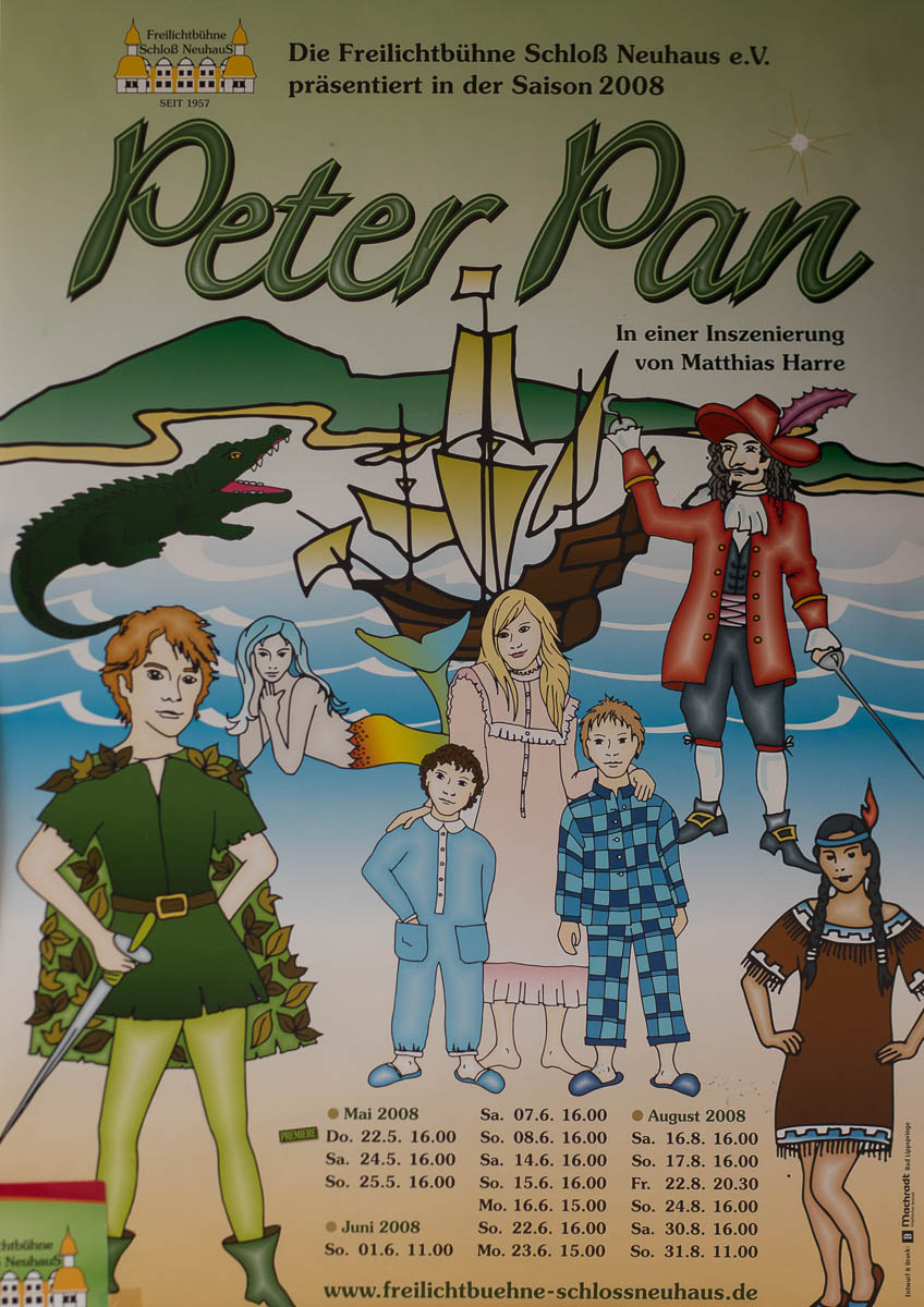 Plakat zu Peter Pan